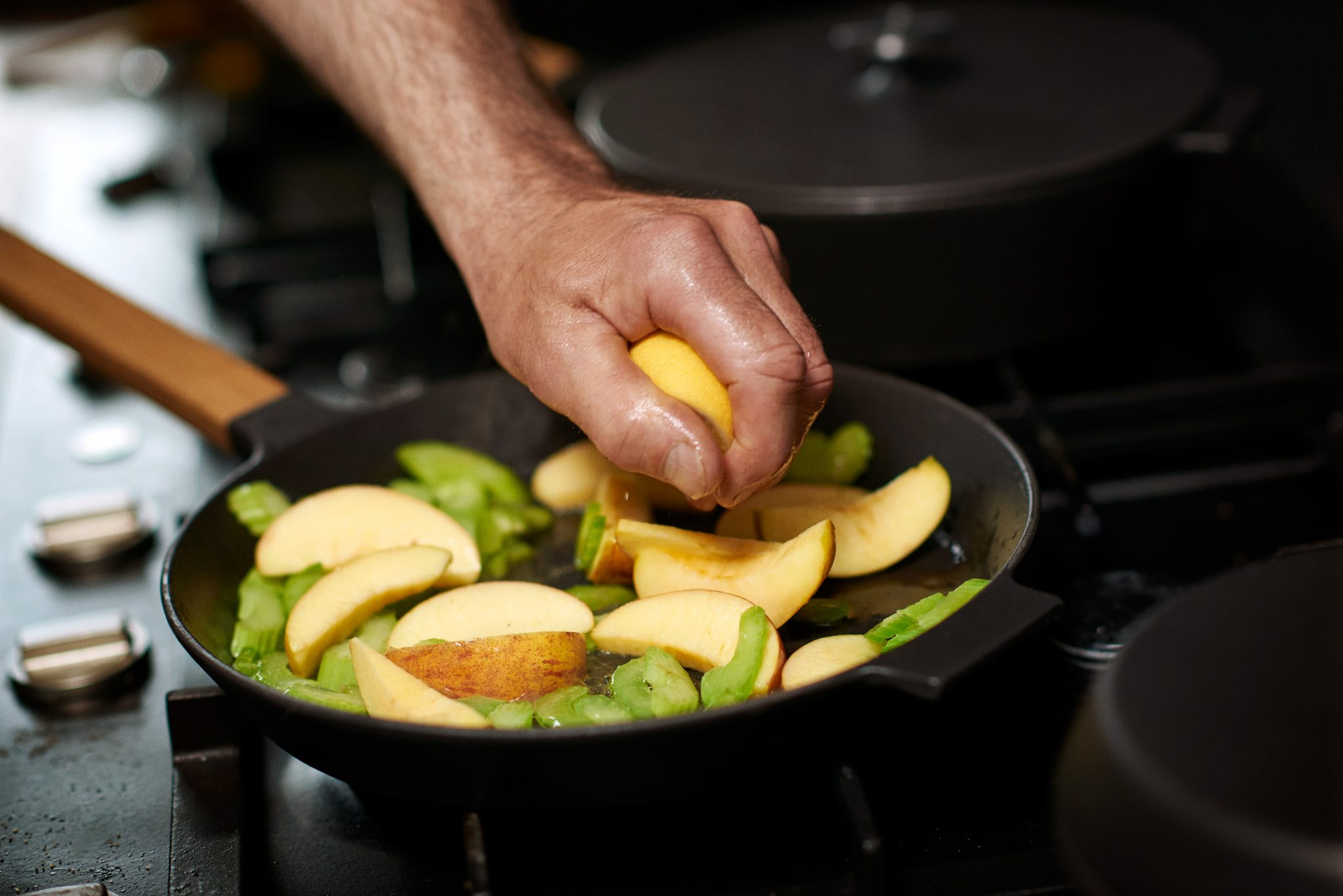 Photo of cooking Morsoe griddle pan