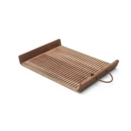 Morso wooden serving tray with handles large