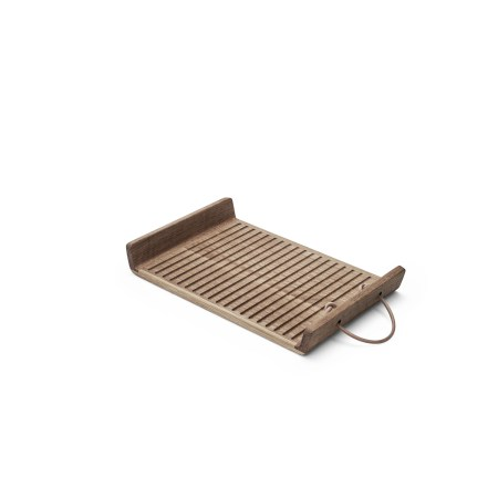 Morso wooden serving tray with handles small