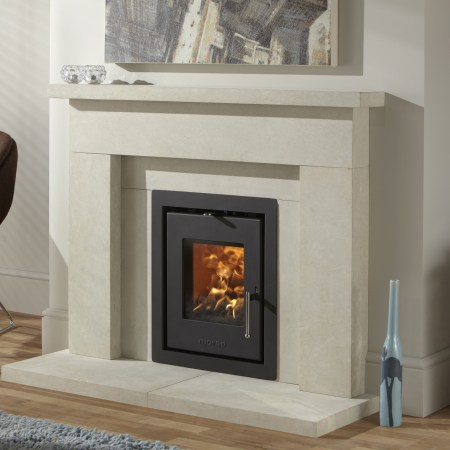 Morso S81-90 with 4-Sided Black Trim