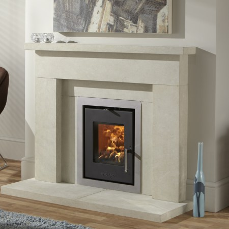 Morso S81 Insert Stove with Brushed Steel Trim