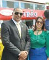 A prefeita de Porto Seguro Cláudia Oliveira e o vereador Evaí Fonseca no desfile de 7 de setembro