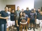 A belíssima e aniversariante do dia, Caroline Queiroz, acompanhado de seu namorado Robson Barros e amigos durante comemoração do seu aniversário em Teixeira de Freitas