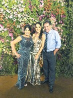O casal de empresários e proprietário da AB Informática, Adilmo e Nere Buzatto, na formatura de sua filha Brenda Buzatto no curso de medicina pela EMESCAM/ES