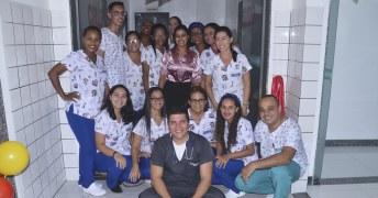 Equipe de saúde do Hospital Municipal de Caravelas