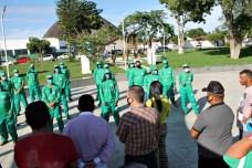 lajedao prefeito tonzinho limpeza publica prefeitura gari entrega de uniforme caminhao tele entulho compactador (11)