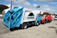 lajedao prefeito tonzinho limpeza publica prefeitura gari entrega de uniforme caminhao tele entulho compactador (28)