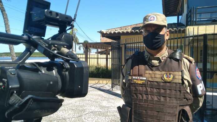 Comandante do 8º BPM concede entrevista ao programa Balanço Geral