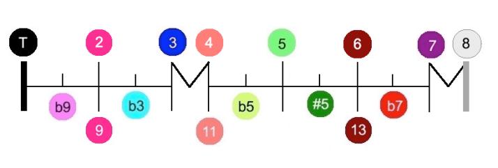 Notation Echelle degrés harmoniques