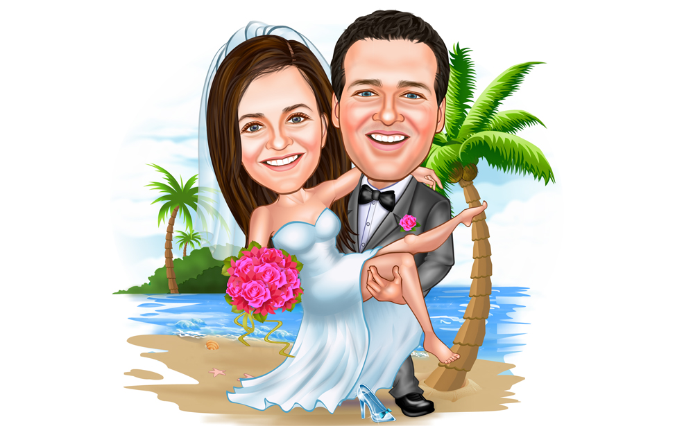 Caricature Artist Custom Cartoon Portrait
