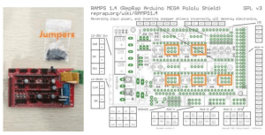 RepRap Ramps14 3D printer circuit connection graph « osoyoo