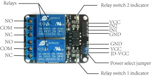 Arduino lesson – 2Channel Relay Module « osoyoo