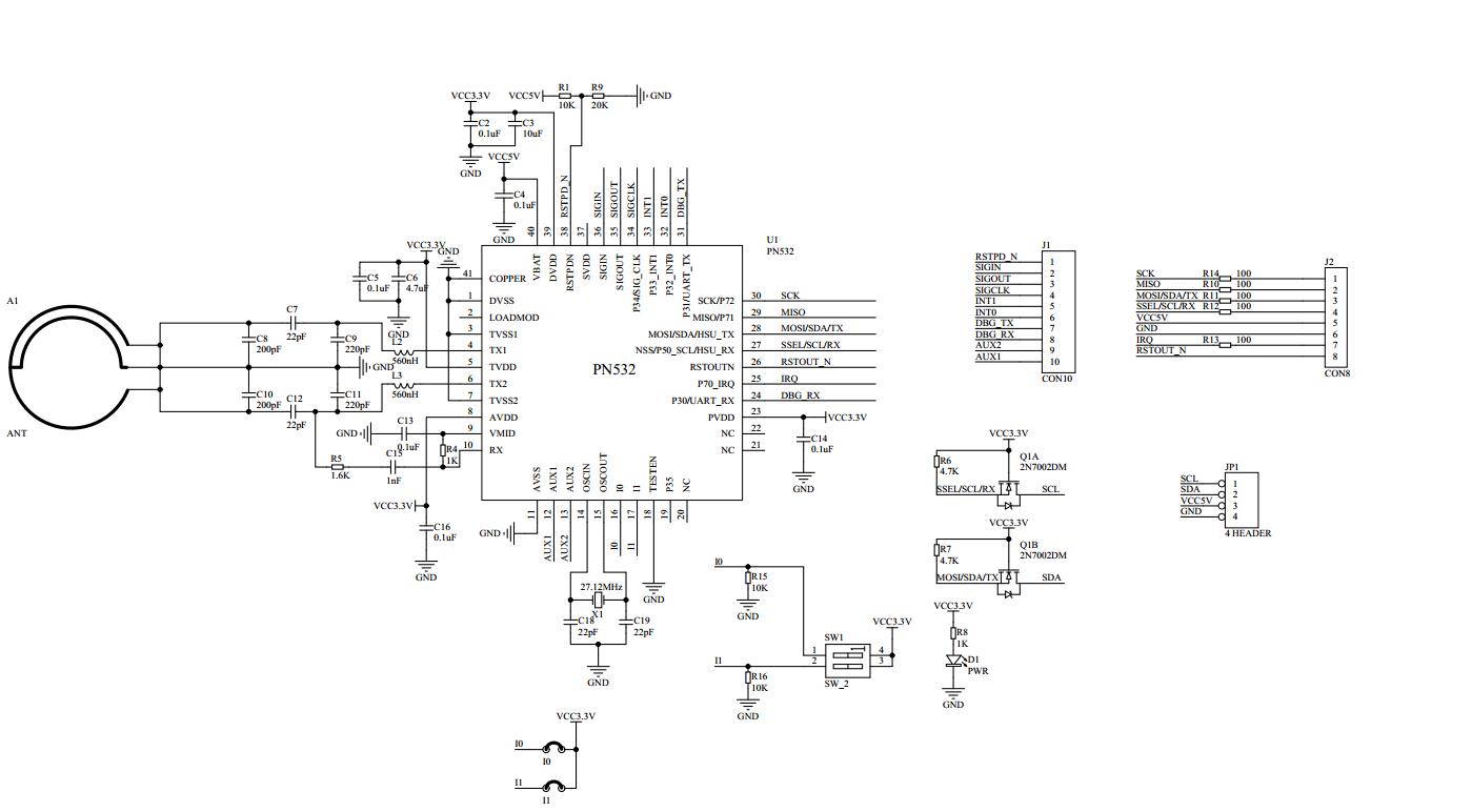 Pn532 Nfc Rfid Module For Arduino Osoyoo