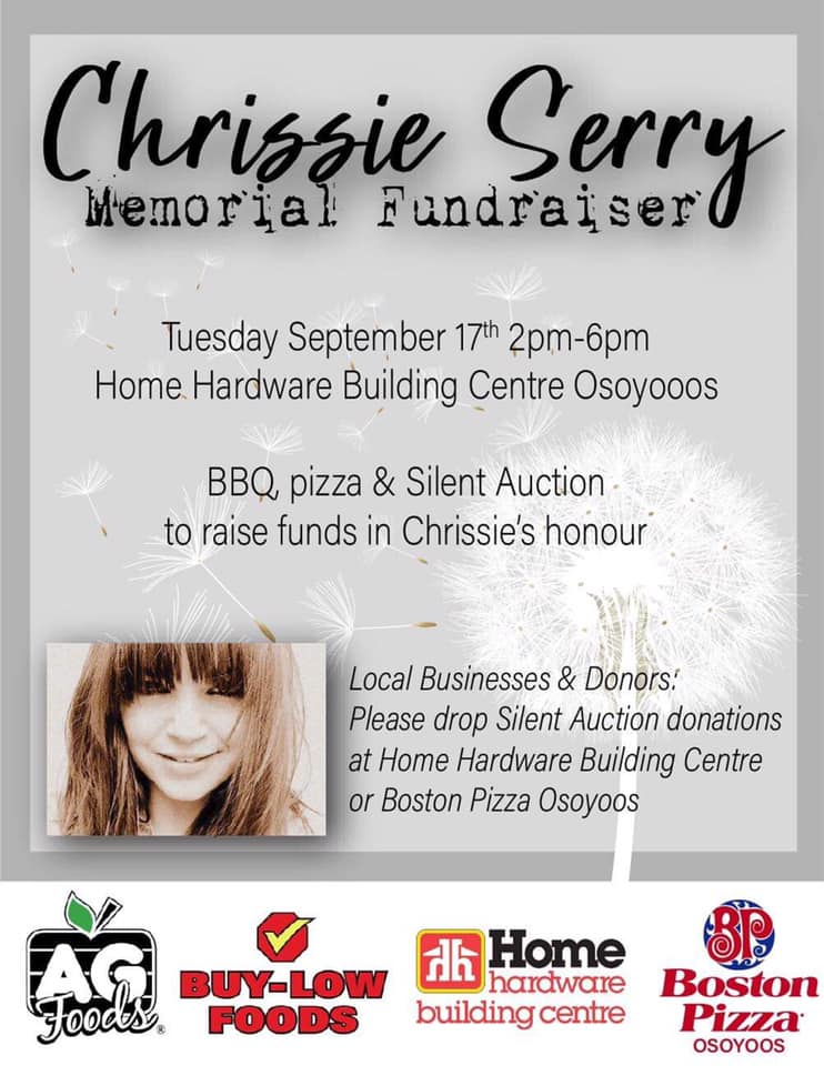 Chrissie Serry Memorial fundraiser at Osoyoos Home Building Centre.