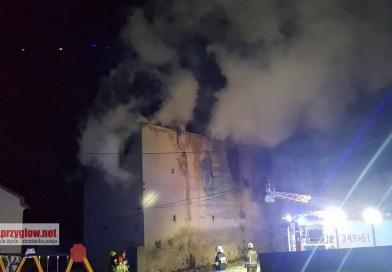 Pożar kamienicy w Piotrkowie
