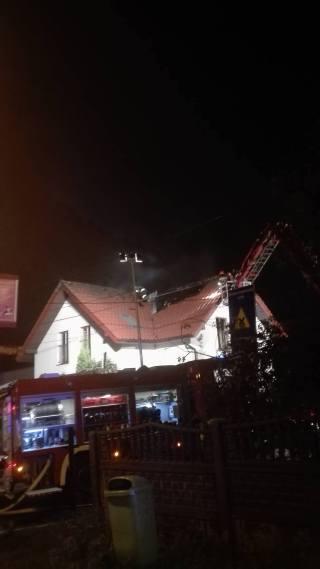 Pożar domu jednorodzinnego w Mikołowie