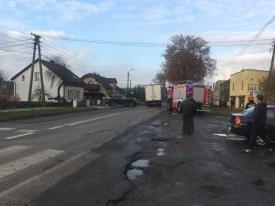 Wypadek samochodowy na ul. Pszczyńskiej w Gostyni