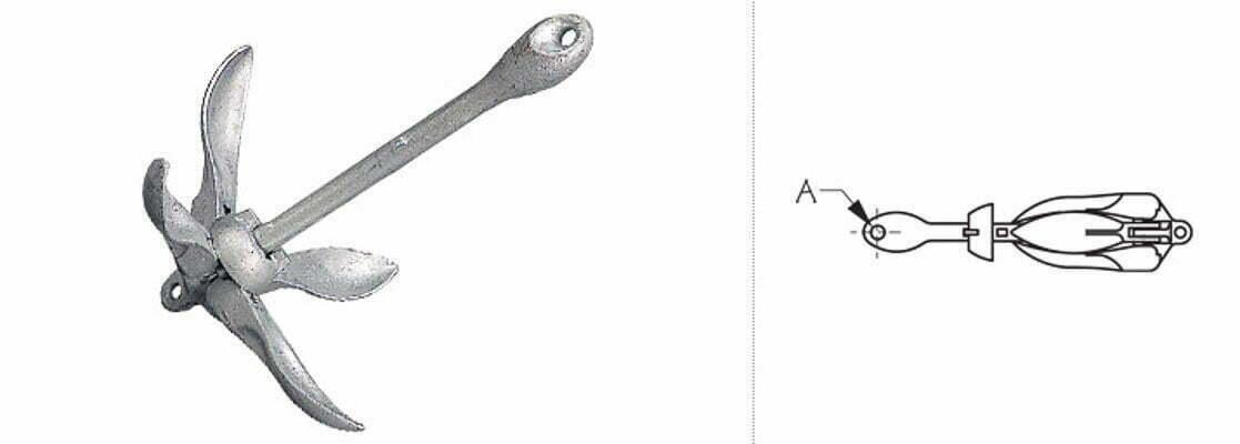 3 lbs Folding Grappling Hook Anchor 3