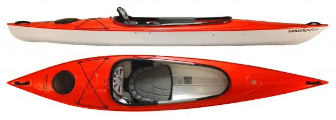 hurricane santee 126 Sport red top and side view