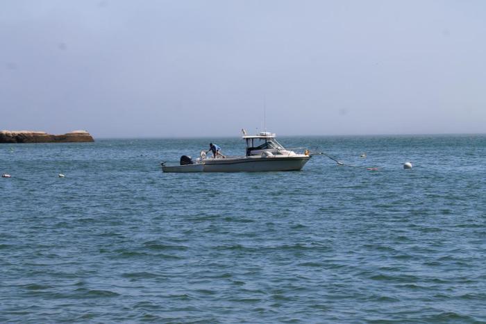 lobster boat in stonington maine harbor