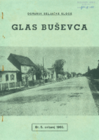 Ogranak Seljačke sloge – Glas Buševca br. 5