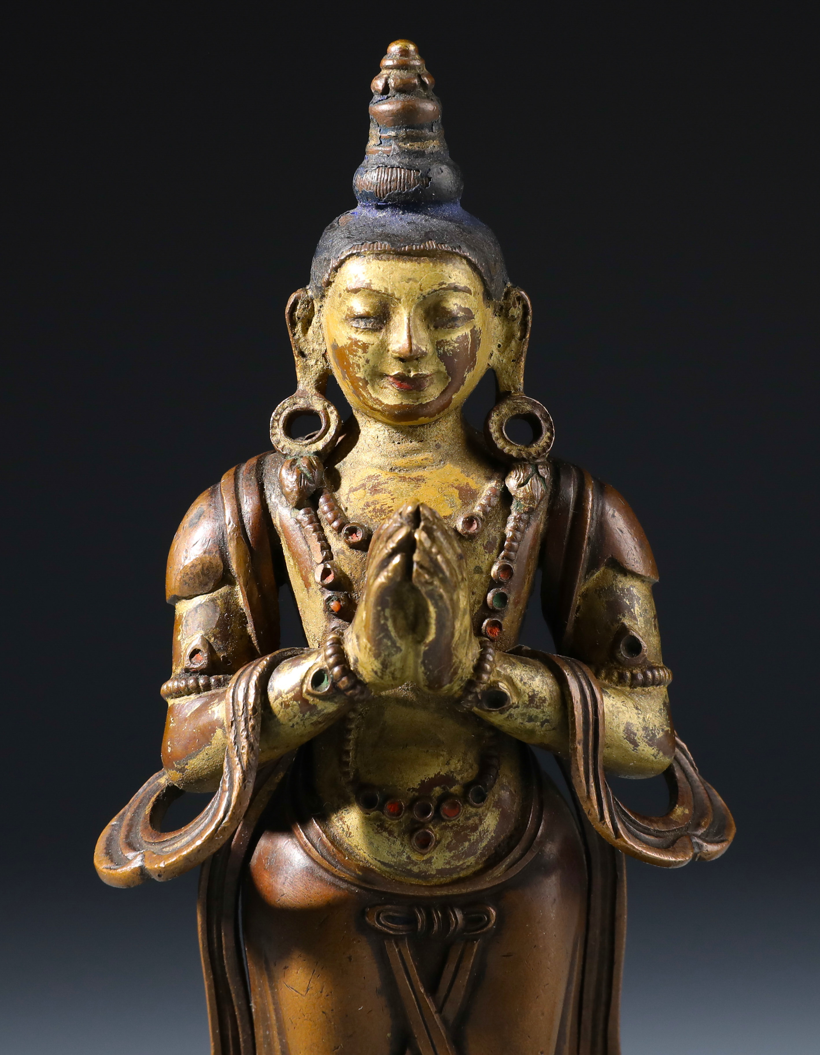 A Rare Chinese Gilt-Lacquered Bronze Figure of Bodhisattva-【Deal Price Picture】