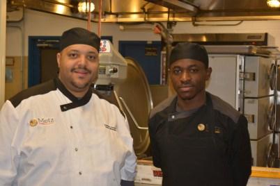 Chef Cornell Coulon (left)
