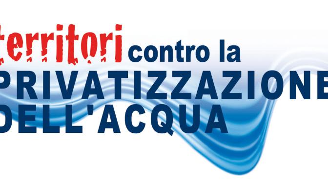 Acqua pubblica: referendum tradito. Resoconto e video della conferenza di Maggio