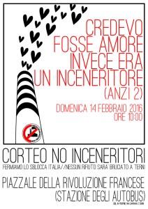 Terni, 14/02/2016: Corteo No Inceneritori