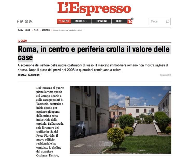 Roma, in centro e periferia crolla il valore delle case di Sarah Gainsforth