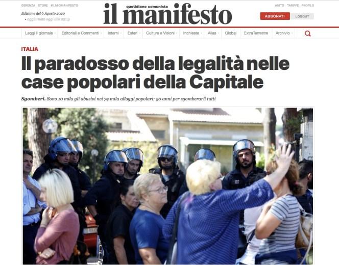 Il paradosso della legalità nelle case popolari della Capitale di Enrico Puccini