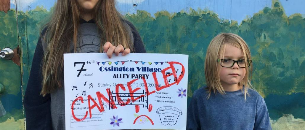 Alley Party Cancelled