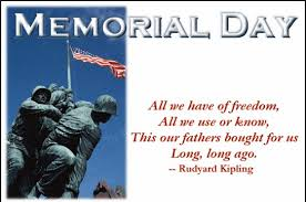 The Library will be Closed on Memorial Day, Monday, May 29th,2017