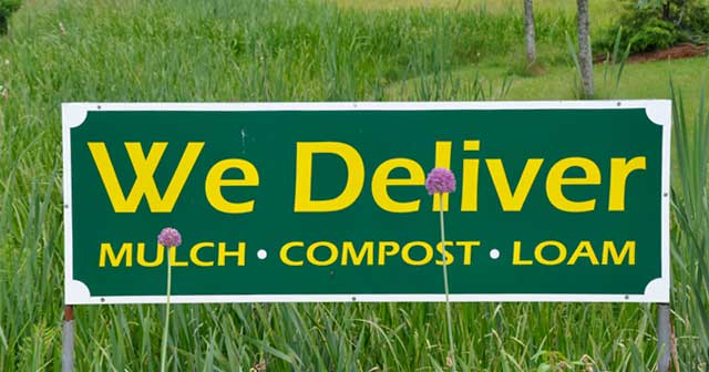 We deliver- mulch, compost, loam