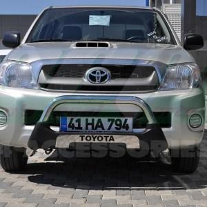 Bullbar protectie pentru bara fata din inox si poliuretan Toyota Hilux 2010-2011