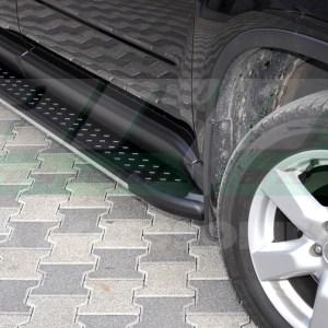 Praguri laterale din aluminiu Nissan Xtrail 2008-2013 cod AB010 Artemis Grey