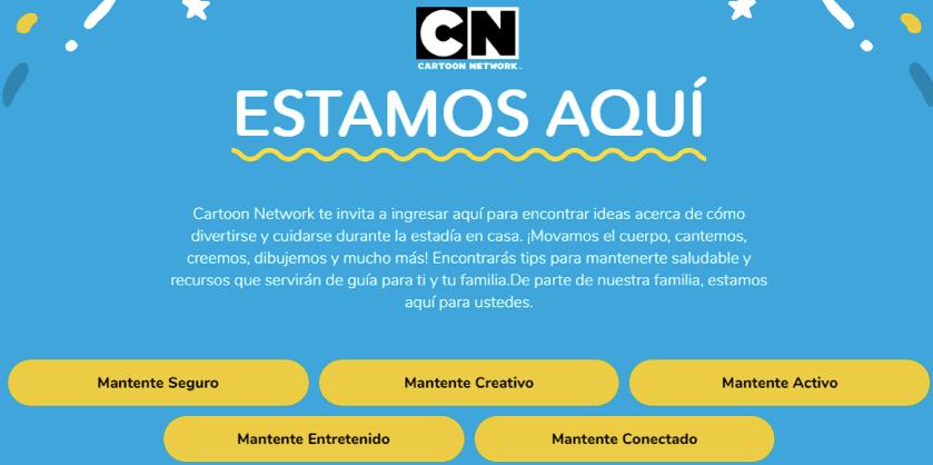 Cartoon Network lanza una nueva iniciativa para motivar a sus fans a mantenerse seguros, creativos, entretenidos y conectados en sus casas