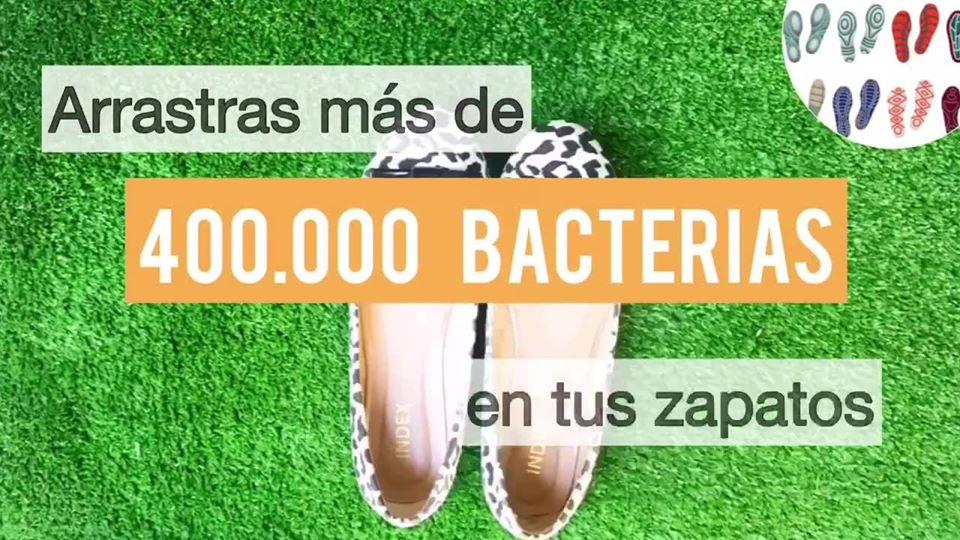 CLEANSHOE: CREAN TAPETE DESINFECTANTE PARA LIMPIAR LOS ZAPATOS EN ENTRADAS DE CASAS Y OFICINAS