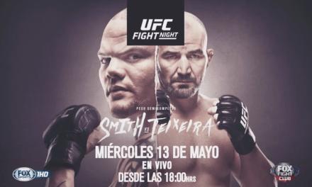 UFC Fight Night: Smith vs Teixeira en VIVO por FOX Sports Premium
