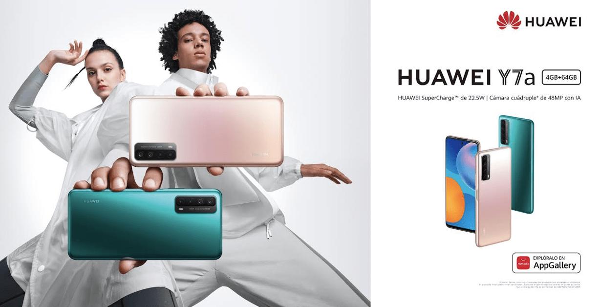 HUAWEI Y7a llega a conquistar el mercado nacional con batería de 5000mAh y una cámara cuádruple de 48MP