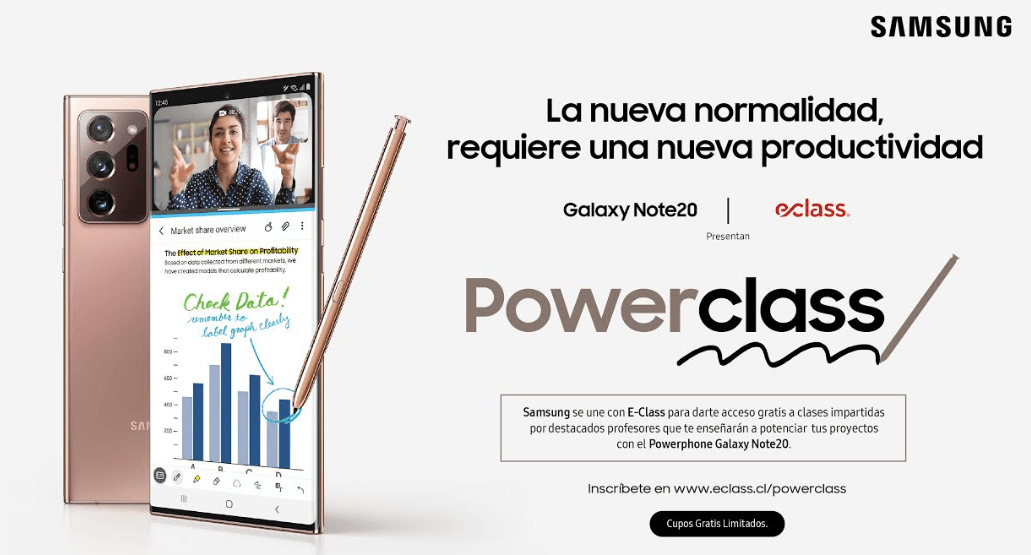 Samsung con eClass invitan a postular a Powerclass: 600 cupos de clases online gratuitas sobre productividad