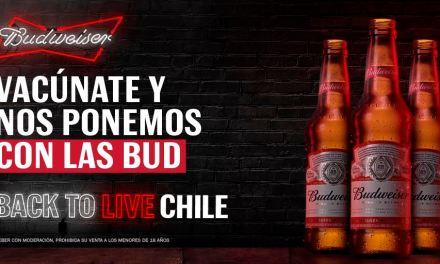 Back To Live Chile: La campaña de Budweiser que regalará cervezas cuando el 80% de los chilenos estén vacunados