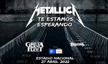 ¡Metallica regresará a Sudamérica en 2022 con los invitados especiales Greta Van Fleet y Yajaira!