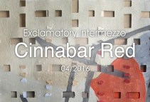 New Work: Cinnabar Red … Cornered by Shapes