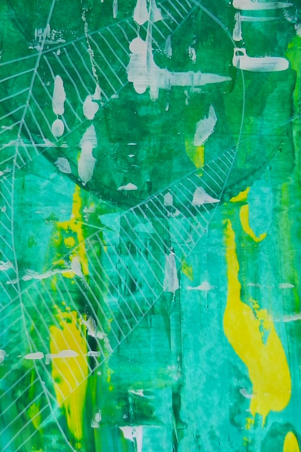 Marks on Large Greens – Intuitive Paintings