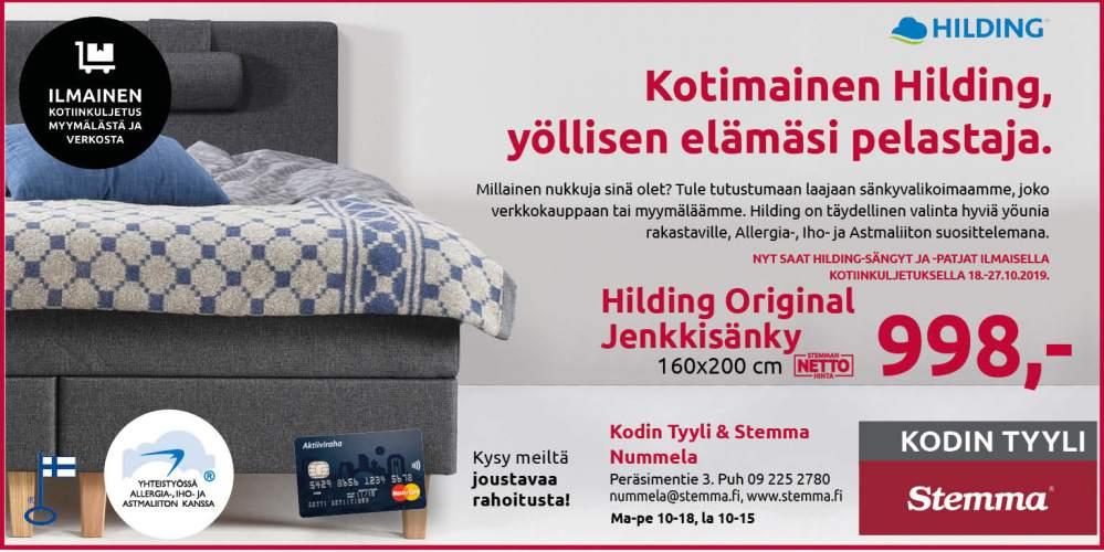 Sänkykaupoille Kodin Tyyliin, Nummelaan