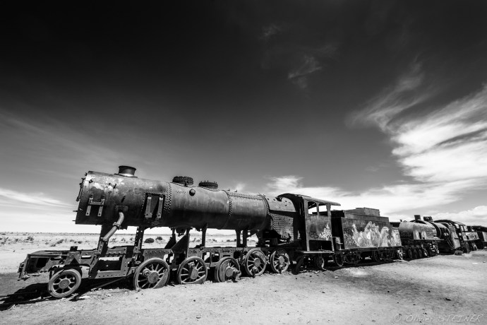 Train cemetery near Uyuni