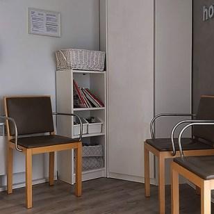 Cabinet salle d'attente jaune