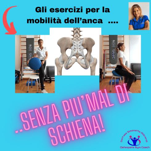 Simonetta Alibrandi Osteopata personal trainer posturologo mal di schiena esercizi cuscino mobile lombalgia postura esercizi bacino
