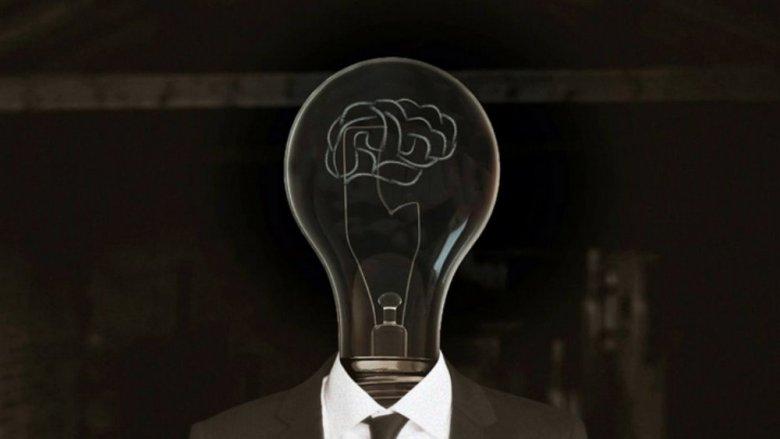 Image d'une ampoule dont le fil à incandescence représente un cerveau faisant la métaphore du génie, de l'idée et de l'intellgience humaine, en l'occurrence celle de René Quinton.